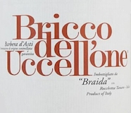 Braida Barbera d'Asti Bricco dell' Uccellone label
