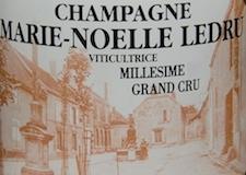 Marie Noëlle Ledru Brut Millésimé Grand Cru label