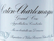 Domaine Leroy Corton-Charlemagne Grand Cru  label