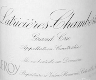 Domaine Leroy Latricières-Chambertin Grand Cru  label