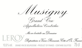 Domaine Leroy Musigny Grand Cru  label