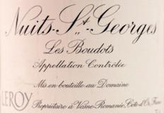 Domaine Leroy Nuits-Saint-Georges Premier Cru Les Boudots label