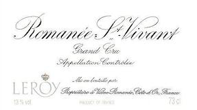 Domaine Leroy Romanée-Saint-Vivant Grand Cru  label