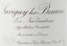 Domaine Leroy Savigny-lès-Beaune Premier Cru Les Narbantons label