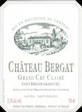 Château Bergat  Grand Cru Classé label
