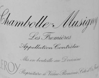 Domaine Leroy Chambolle-Musigny Les Fremières label