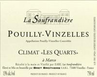 Domaine La Soufrandière  Bret Brothers Pouilly-Vinzelles Les Quarts label