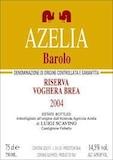 Azelia Barolo Bricco Voghera (Brea) Riserva label