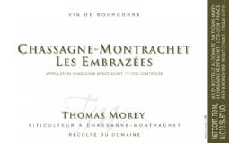 Domaine Thomas Morey Chassagne-Montrachet Premier Cru Les Embrazées label