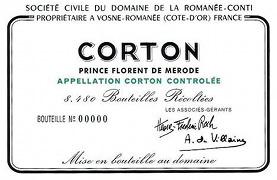 Domaine de la Romanée-Conti Corton Grand Cru  label