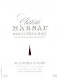 Château Marsau  label