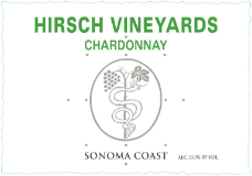 Hirsch Vineyards Estate Chardonnay label