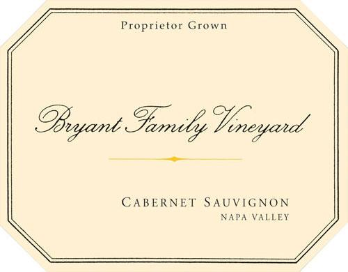 Bryant Family Vineyard Cabernet Sauvignon label