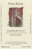 Piero Busso Barbaresco Vigna Borgese label