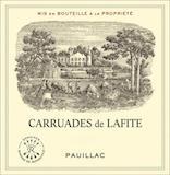Château Lafite Rothschild Carruades de Lafite label