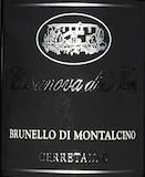 Casanova di Neri Brunello di Montalcino Cerretalto label