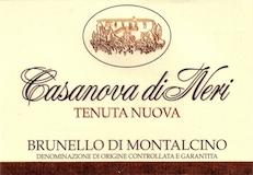 Casanova di Neri Brunello di Montalcino Tenuta Nuova label