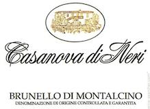 Casanova di Neri Brunello di Montalcino  label