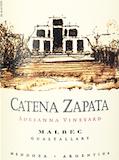 Bodega Catena Zapata Adrianna Vineyard Malbec label