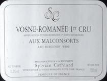 Sylvain Cathiard Vosne-Romanée Premier Cru Aux Malconsorts label
