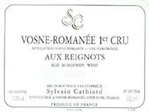 Sylvain Cathiard Vosne-Romanée Premier Cru Aux Reignots label