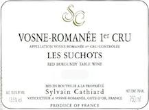 Sylvain Cathiard Vosne-Romanée Premier Cru Les Suchots label