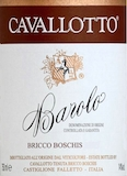 Cavallotto Barolo Bricco Boschis label