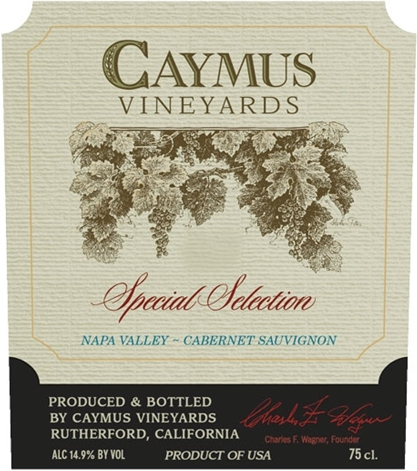 Caymus Vineyards Special Selection Cabernet Sauvignon label