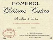 Château Certan de May  label