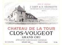 Château de la Tour Clos de Vougeot Grand Cru  label