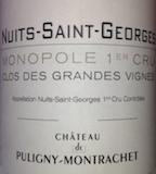 Château de Puligny-Montrachet Nuits-Saint-Georges Premier Cru Clos des Grandes Vignes label