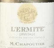 M. Chapoutier Hermitage Ermitage L'Ermite label
