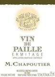 M. Chapoutier Hermitage Ermitage Vin de Paille label