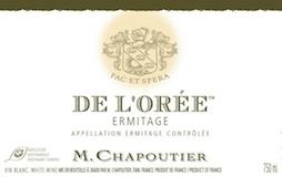 M. Chapoutier Hermitage Ermitage Blanc De l'Orée label