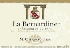 M. Chapoutier Châteauneuf-du-Pape La Bernardine label