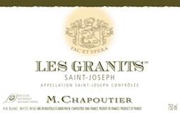 M. Chapoutier Saint-Joseph Blanc Les Granits label