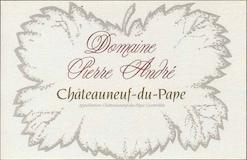 Pierre André Châteauneuf-du-Pape  label