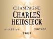Charles Heidsieck Brut Millésimé - label