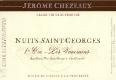 Jérôme Chezeaux Nuits-Saint-Georges Premier Cru Les Vaucrains - label