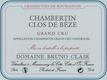 Domaine Bruno Clair Chambertin Clos de Bèze Grand Cru  - label