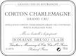 Domaine Bruno Clair Corton-Charlemagne Grand Cru  - label