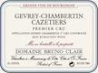 Domaine Bruno Clair Gevrey-Chambertin Premier Cru Les Cazetiers - label
