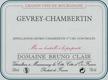 Domaine Bruno Clair Gevrey-Chambertin  - label