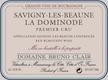 Domaine Bruno Clair Savigny-lès-Beaune Premier Cru La Dominode - label