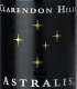 Clarendon Hills Astralis Shiraz - label