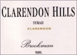 Clarendon Hills Brookman Syrah - label