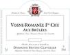 Domaine Bruno Clavelier Vosne-Romanée Premier Cru Aux Brûlées Vieilles Vignes - label