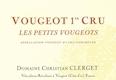Domaine Christian Clerget Vougeot Premier Cru Les Petits Vougeots - label