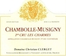 Domaine Christian Clerget Chambolle-Musigny Premier Cru Les Charmes - label