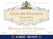 Domaine du Clos Frantin Clos de Vougeot Grand Cru  - label